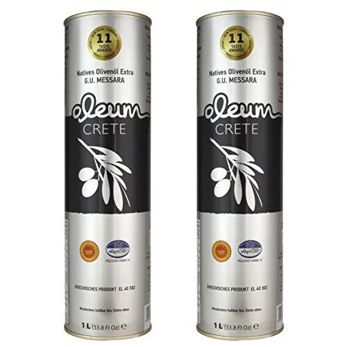Oleum Crete P.D.O. Messara / Kreta 2 x 1000ml mildes-fruchtiges Olivenöl von Kreta. Hersteller mit über 44 internationalen Auszeichnungen.