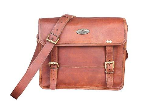 ganpati handicraft Men's Auth Real Leather Messenger Bags Laptop Briefcase Satchel Mens Bag