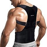 Back Brace Posture Corrector for Men Women - Adjustable Lower Upper Back Brace -...