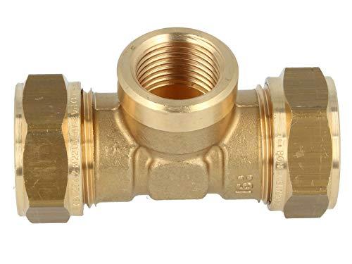 MS-Klemmringverbinder -892212-, T-Stück mit IG mittig - Verschraubung 22 x 1/2 x 22 mm