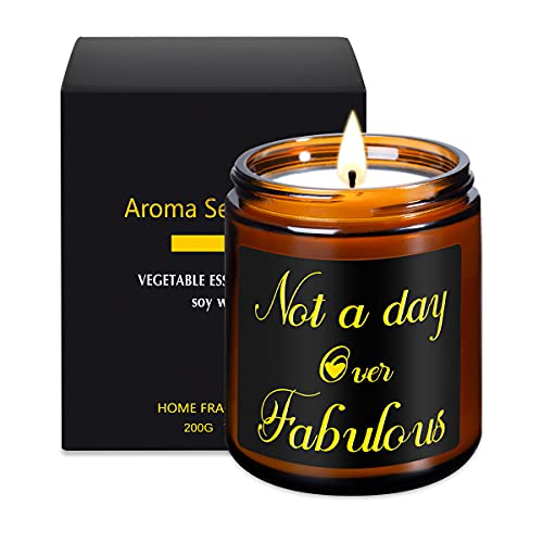 Birthday Gifts for Women, Not A Day Over Fabulous Lavender Scented Candles Gifts for Women, Funny...