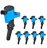 ENA Pack of 8 Premium Ignition Coil compatible with Ford F150 F250 E150 E350 Lincoln Navigator Town Car Crown Victoria Expedition Mustang GT Mercury Grand Marquis 4.6L 5.4L V8 DG508 FD503 C1417 C1454