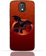 HTC Desire 526 G Plus TPU Silicone Case with halloween-bats Design