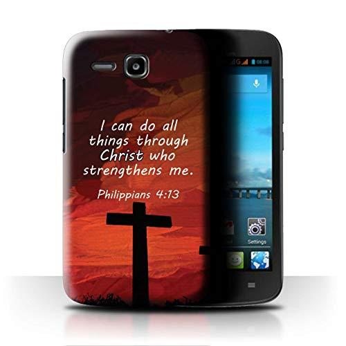 Hülle Für Huawei Ascend Y600 Christliche Bibel Vers Christ Strengthens/Philippians Design Transparent Ultra Dünn Klar Hart Schutz Handyhülle Case