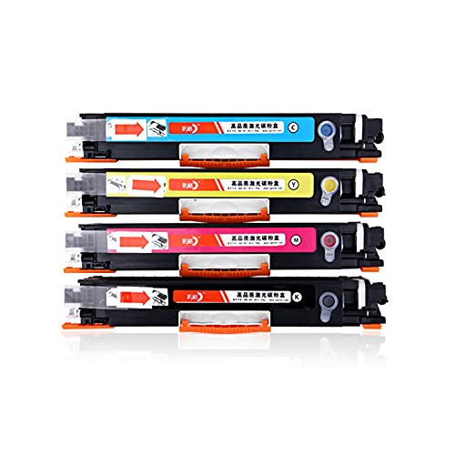 Compatible Adecuado para HP CE310A Cartucho de Cartucho de tóner Cartucho HP M175A CP1025NW CF350A M176N Impresora láser de Color (Negro, Cian, Magenta, Amarillo, 4 Pack)