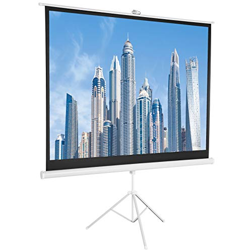 AmazonBasics 84 inch (213,3 cm) 4:3 Portable Projector Screen - White