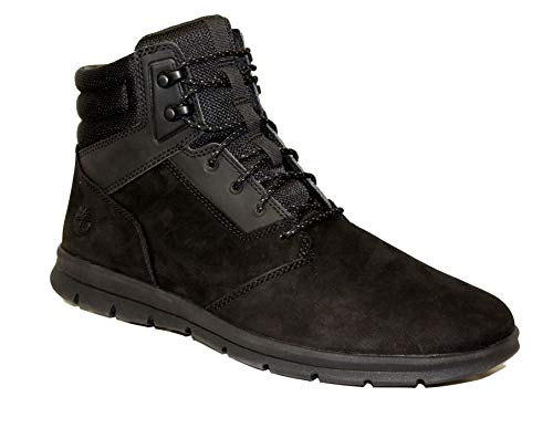 Timberland Men's TB0A1ZRR015 - Graydon Leather Sneaker Boot 11.5 M, Black Nubuck