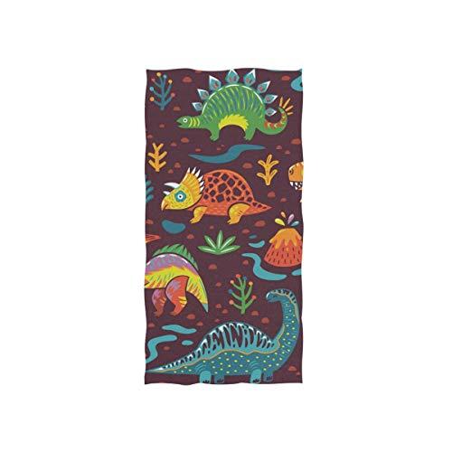 Bert-Collins Towel Toallas de Playa Suaves, patrón de Dinosaurio Toallas de Playa Altamente absorbentes para baño 80x130cm TWL-953