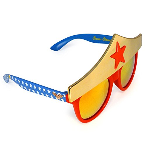 Sunstaches DC Comics Wonder Woman Star Sunglasses, Party Favors, UV400