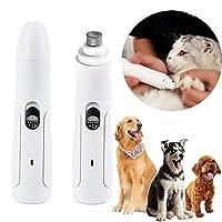 ペット用爪やすり 電動犬猫用爪やすり 電動爪やすり ハイパワー低騒音低振動設計 保護カバー付き 洗える 大・中・小型ペット共用