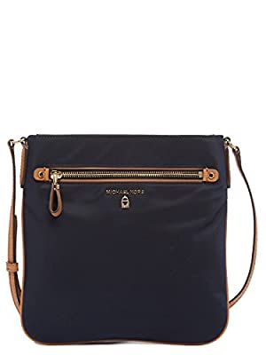 Michael Kors Nylon Kelsey Large Crossbody Nylon (Admiral)