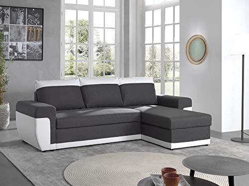 Canapé d'angle 4 places Tissu Pas cher Contemporain