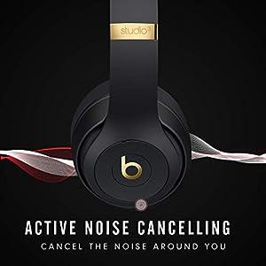 Beats Studio3 Wireless Over-Ear Headphones – The Beats Skyline Collection - Midnight Black (Latest Model)
