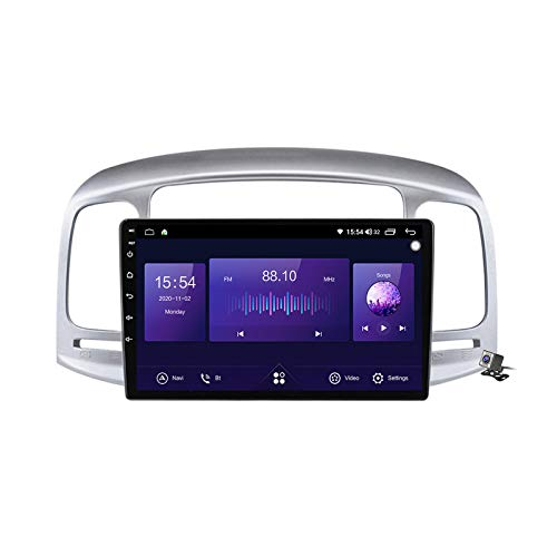Buladala Android 10 GPS Navigation Stereo Radio para Hyundai Accent 3 2006-2011, 9' Pantalla Coche Media Player Soporte Carpaly/5G FM RDS/Control Volante/Bluetooth Hands-Free,7862: 6+128gb