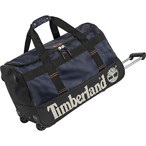 Timberland Wheeled Duffle 26 Inch Lightweight Rolling Luggage Travel Bag Suitcase, Dark Blue