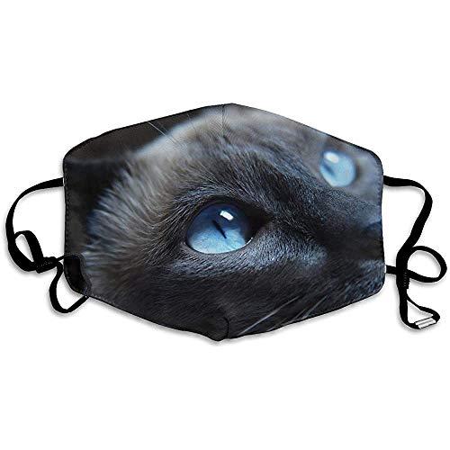 Polyester Anti-Staub-Coole Halloween Black Cat Washed Wiederverwendbare Mode gedruckte Gesichter