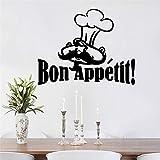 supmsds Bon appétit Cuisine décorations décor à la Maison PVC Stickers muraux Salon Chambre Chambre décoration 43X54CM