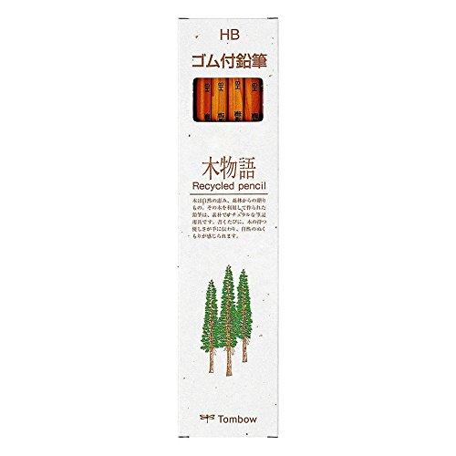 『トンボ鉛筆 ゴム付き鉛筆 木物語 HB 1ダース LG-KEAHB』の1枚目の画像
