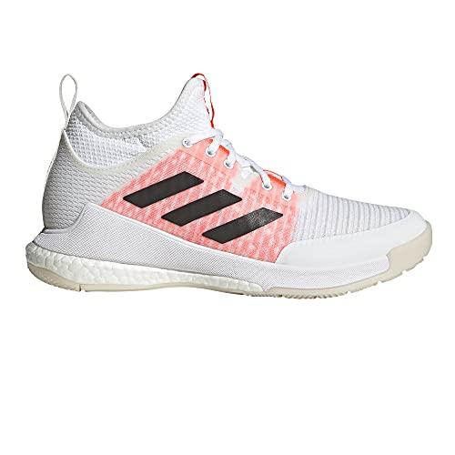 adidas Crazyflight Mid, Zapatillas de Running Mujer, FTWBLA/NEGBÁS/Rojsol, 42 2/3 EU