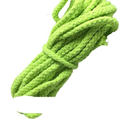 WEDSA 10 Metros 5 mm Color sólido Cuerda de algodón Hilo de macramé Cuerda Trenzada Cuerda para Manualidades de Bricolaje...
