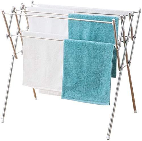 Tendedero eléctrico Rack Drying Rack 8 barras de acero inoxidable lisas Rack de secado plegable, cuarto de baño para el hogar Estante de secado plegable, Rack de toallas expandibles (acero inoxidable)