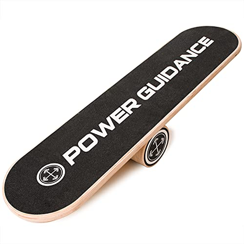 POWER GUIDANCE Tabla de equilibrio de madera para entrenamiento abdominal para equilibrio, estabilidad, fitness, gimnasio en casa