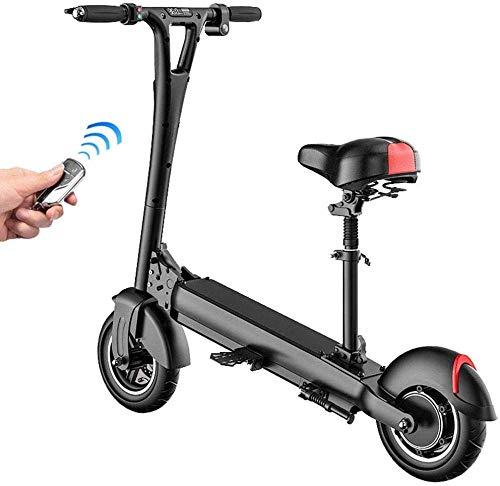 QX - Scooter eléctrico de 36 V y 400 W, plegable para adultos, neumáticos de alta velocidad, 35 km/h, 10 pulgadas, E-Scooter portátil, con asiento ajustable y pedal inclinado, 75 km (