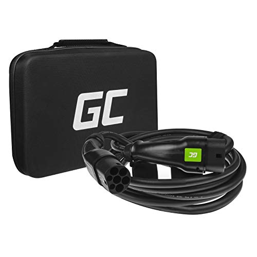 Green Cell® GC Type 2 Cable de Carga EV Vehículo Eléctrico PHEV | 11kW | 16A | Tipo 2 a Tipo 2 | 7m | Trifásico | Compatible con BMW i3, Leaf, E-Tron, I-Pace, Kona, eGolf, fortwo, Ioniq, Peugeot e-208