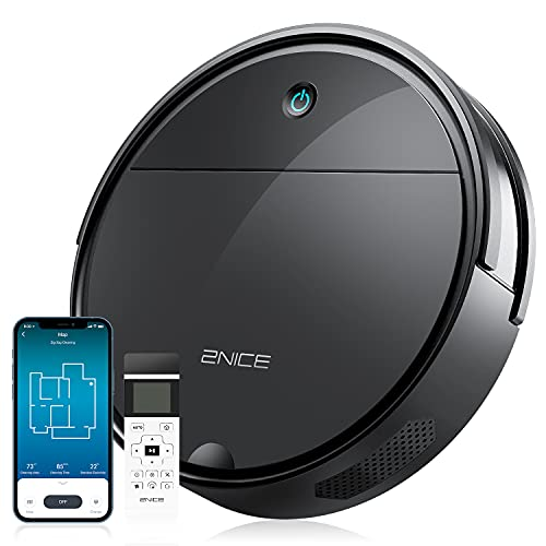 2NICE Robot Vacuum Cleaner Good for Pet Hair, Alexa/WiFi/Remote, Automatic Robotic Vacuum Cleaner 1800Pa Tangle-Free Suction, Auto Self-Charging Vacuum Robot for Carpet Hard Floor