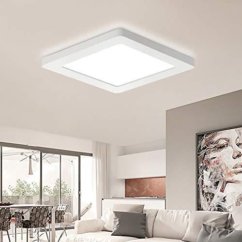 Oeegoo LED Deckenleuchte, 12W 960LM Led Deckenlampe, Flimmerfreie Leuchte, Ultraslim 1.4cm Schlafzimmerlampe Wohnzimmerlampe Kinderzimmerlampe Küchenlampe Flurlampe Einbauleuchte Neutralweiß 4000K