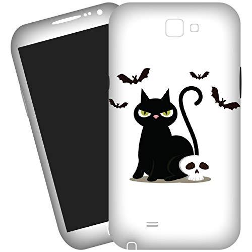 My Custom Style Cover 3D #Halloween-Gatto Nero_2# per Samsung Galaxy S4