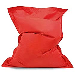 Giant, fun, kids bean bag floor cushion; 120cm (3ft 9in) x 100cm (3ft 2in) Indoor Outdoor; the perfect children's furniture for relaxing, reading, homework, watching TV or chilling out in the garden (easy wipe clean) Fun and bright; these bean bags c...
