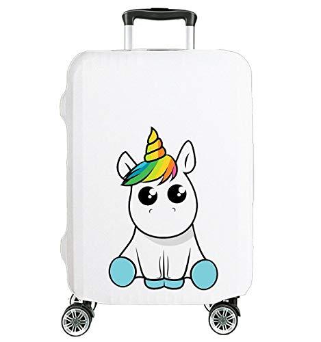 Elegante Coperture per valigie Cover Proteggi Valigia Suitcase Copri Valigia Anti-Polvere bianco MEDIUM 23'-26' M Unicorno [083]