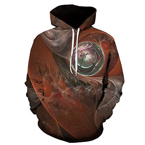 PRJN Mens Long Sleeve Sweatshirts Printed Hoodies 3D Jumpers Sportswear Unisex Hoodies HD 3D Print Pullover Lightweight Sweatshirts Pockets 3D Prints Pullover Jumpers Breathable Hoodies