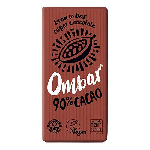 Ombar Bio Raw Chocolate 90% Raw Cacao Chocolate 10 x 35g
