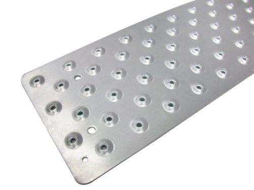 Handi-Treads rutschfeste Trittfläche, Aluminium, Mill-Finish Silber, 9,5 x 76,2 cm