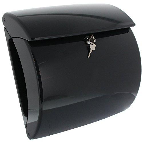 BURG-WÄCHTER, Briefkasten mit integriertem Zeitungsfach in Klavierlack-Optik, A4 Einwurf-Format, EU Norm EN 13724, Hochwertiger Kunststoff, Piano 886 G, Granit