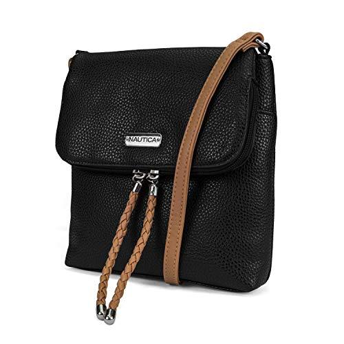 Nautica Port O Call Womens Vegan Leather Crossbody Purse Bag