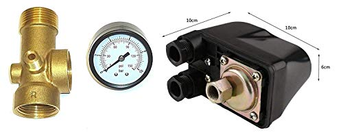 IBO / CHM Gartenpumpe Kreiselpumpe MHI2200 INOX + Druckschalter mit Manometer - Leistung: 2200W - Spannung: 230 V / 50 Hz 10800 L/h - 180l/min. Max. Druck 6 bar. Laufräder aus Edelstahl. - 5
