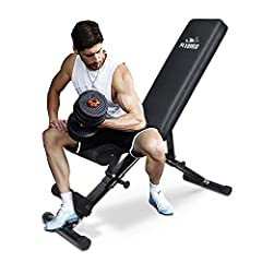 ✅【620 LBS WEIGHT CAPACITY】Designed a unique frame with triangular structure and made of heavy-duty commercial quality steel, which is very sturdy and durable, suitable for general bench presses. All this is especially important in your workout. ✅【FAS...