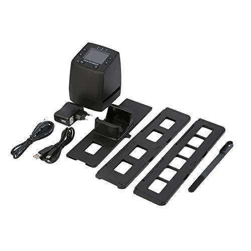 Ballylelly Escáner de Alta resolución Convierte Digital Diapositivas negativas USB Escáner fotográfico Convertidor de película Digital portátil LCD de 2,4 Pulgadas