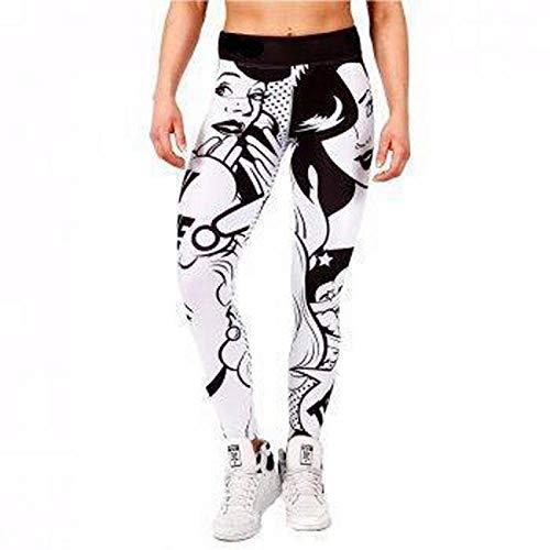 Yogabroek extra zachte legging met zakken voor dames,Yogabroek met hoge taille en sportfit-legging - Zwart Wit 2_S_China,Blouse met V-hals