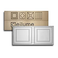 Impact resistant ceiling tiles are 2 ft. x 4 ft. (actual size 23.75 in. x 47.75 in.) and each panel covers a 8 sq. ft. area ASTM-E84 Class A fire rated, IAPMO recognized compliant with 2006, 2009 and 2012 International Building Code and FDA compliant...
