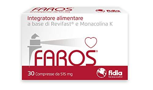 Faros Integratore Alimentare per il controllo del colesterolo   Senza Glutine, senza Lattosio, senza Citrinina   Confezione da 30 COMPRESSE
