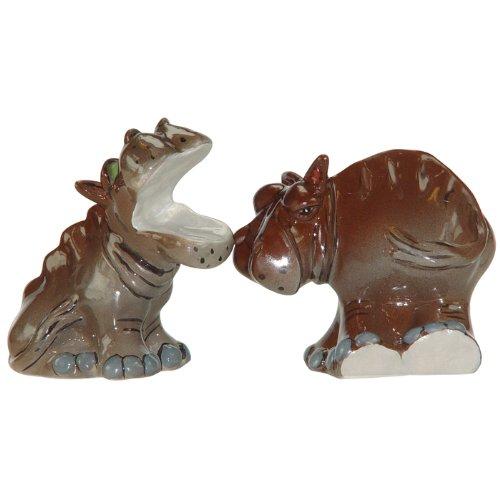 Westland Giftware Ark Safari Hippos Salt and Pepper Shaker Set, 3-Inch