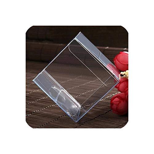 c-sky Klarer Platz Hochzeitsbevorzugungsgeschenk Box PVC Transparent Partei Beuter Pralinen 5x5x5cm Caja de dulces 50, Klar, 5x5x5cm