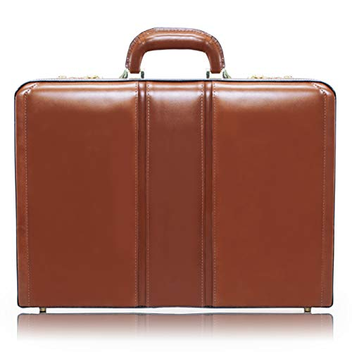 McKlein, V Series, Daley, Top Grain Cowhide Leather, Leather 3.5' Attaché Briefcase, Brown (80434)