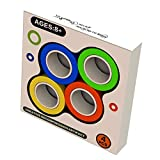 4 PCS Stress Relief Magnetic Fidget Ring, Ring Fidget Toy for Autism ADHD Anxiety Focus Decompression, Magnetic Game, Fidget Spinner