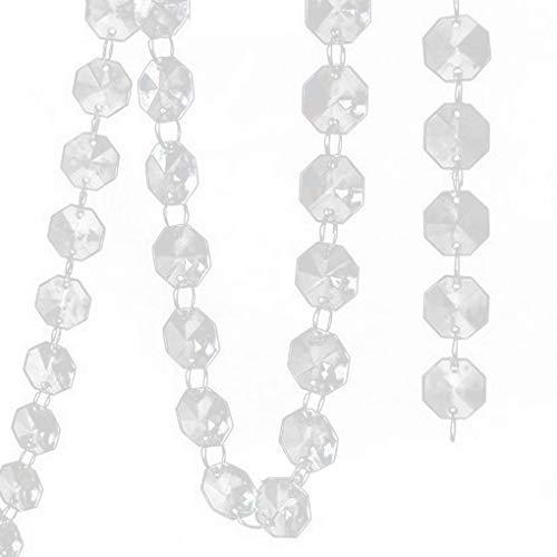 Guangcailun 14 mm Cristal Acrílico Octogonal de Bolas de Boda Que cuelga la decoración de árboles de la Pieza Central