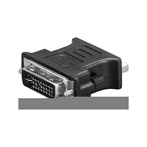 Goobay DVI-D - VGA, M/F D-Sub Negro - Adaptador para Cable (M/F, DVI-D, D-Sub, Macho/Hembra, Negro)